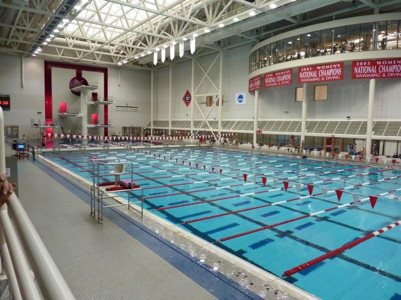 Slot Drain in University of Georgia Aquatics Centre